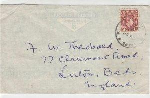 Nigeria 1950 ilaro PO Cancel Airmail to England King+Trees Stamps Cover Rf 29943