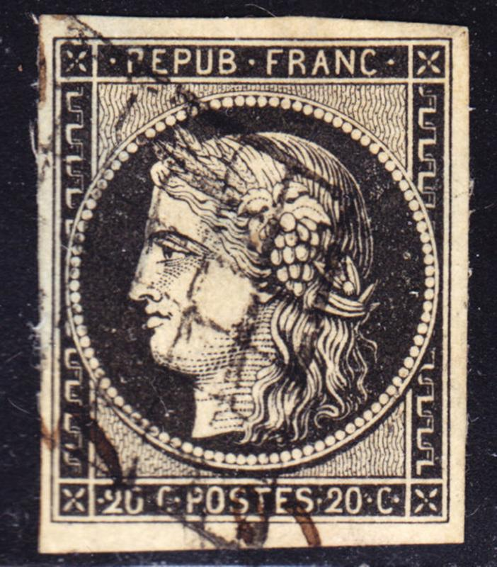 France Scott 3a  VF to XF used.