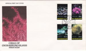 Cocos Islands # 270-273, Corals, First Day Cover