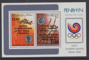 Penrhyn Island 368 Olympics Souvenir Sheet MNH VF
