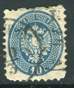 LOMBARDY VENETIA; 1860s early classic 'Arms' issue fine used 10s. value