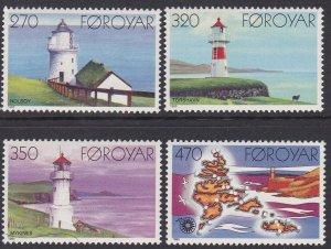 Faroe Islands Sc #130-133 MNH
