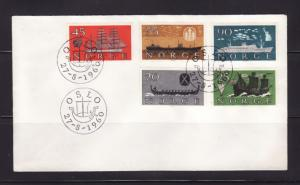 Norway 382-386 Set FDC Ships (B)
