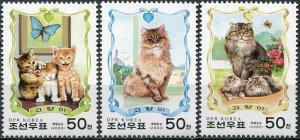 Korea 2000. Cats (MNH OG) Set of 3 stamps