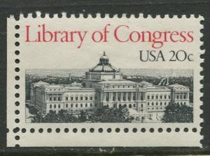 USA - Scott 2004 - Library of Congress - 1982 - MH - Single 20c Stamp