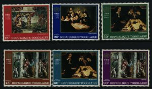 Togo 646-9, C93-4a MNH WHO, Art, Paintings