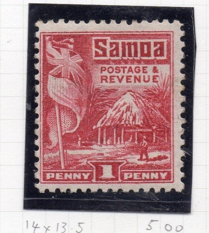 Samoa 1920s Early Issue Fine Mint Hinged 1d. 174668