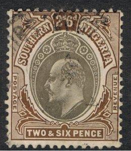 SOUTHERN NIGERIA 1903 - 07 2/- 6d KING EDWARD VII
