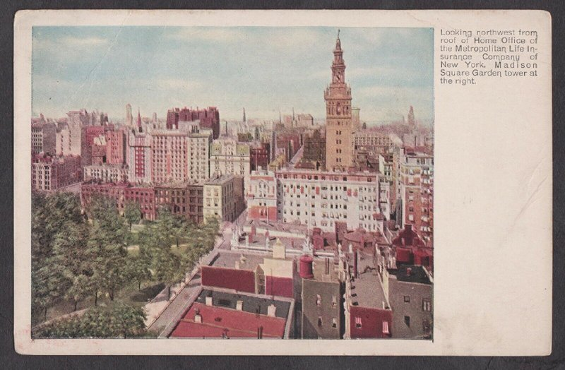 Unused Postcard: New York City – Metropolitan Life & Madison Square Garden