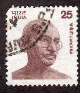 India 677 - Used - Gandhi (17 x 20mm) (cv $2.25)