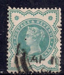 GB 1900 QV 1/2d Bluish green colour change SG 213 ( E70 )