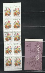 Australia #1164a (1990 41 cent Thinking of You booklet) VFMNH CV $8.00