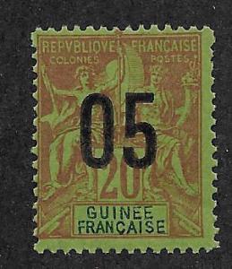 FRENCH GUINEA SC# 51  F/MOG    1912