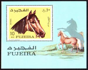 Fujeira Michel Block 84A (#A814) mnh - 1971 horse - horses - perf souvenir sheet