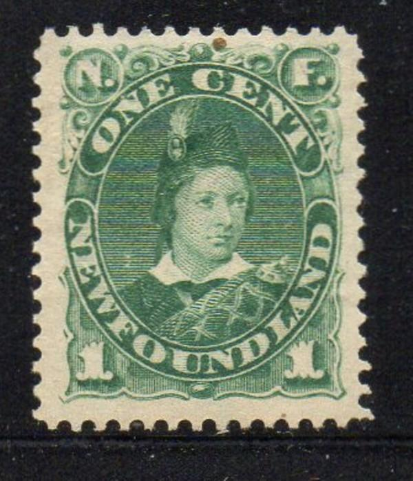 Newfoundland Sc 45 18971 c green Prince of Wales stamp mint
