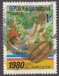 Dominican Republic 825 Cacao Harvest 1980