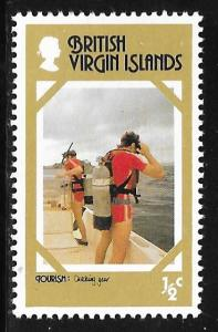British Virgin Islands 327: 1/2c Divers Checking Equipment, MH, VF