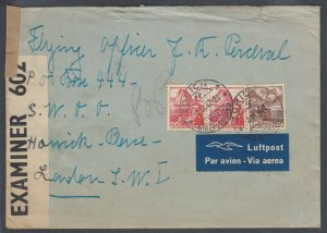 US 1942 censored cover to PO BOX 444 in Bletchley Park - UNDERCOVER mail