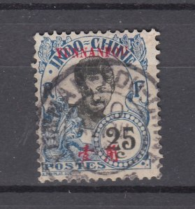 J28865, 1908 france office china yunnan fou used #41 ovpt