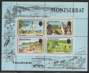 Montserrat MNH S/S 251a Golf & Tourism 1970