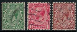 Great Britain #159-61  CV $3.95