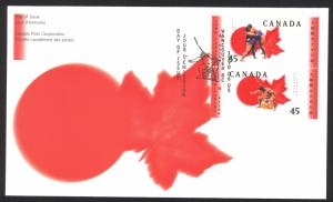 Canada Sc# 1723-1724 FDC combination 1998 06.05 Sumo Canada Basho