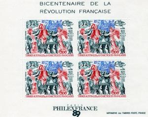 FSAT TAAF 89 Bicentenary  French Revolution MS SG#MS257 MNH