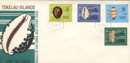 Tokelau - 1974 Shells of the Coral Reef (FDC)