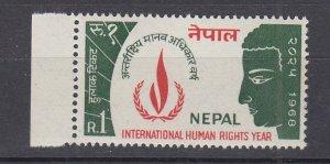 J28751,1968 nepal set of 1 mnh #214 human rights
