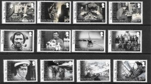 S.GEORGIA&S.SANDWICH SG619/30 2014 HEROES OF THE TRAN-ANTARCTIC EXEDITION MNH