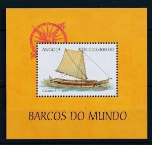 [81291] Angola 1999 Ships Boats Catamaran 1861 Sheet MNH