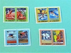 St. Vincent - 765-68, MNH Set (Pairs). Summer Olympics. SCV - $3.00