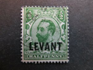 A4P9F10 Great Britain Offices in Turkish Empire 1911-12 1/2p used