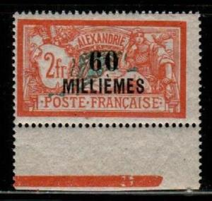 French Offices in Alexandria Scott 60 Mint NH (Catalog Value $21.00)
