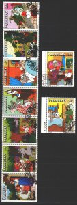 Paraguay. 1979. 3229-37. Fairy Tales, UNICEF. USED.