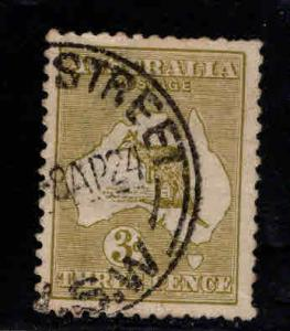 AUSTRALIA Scott 47 Kangeroo Map stamp 1915 CV$8.25