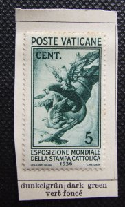♗VATICAN CITY 1936, Exhibition of the Catholic Press, set SG47-54 Unused, #HS230