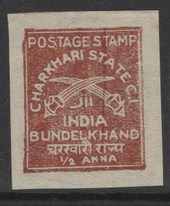 INDIA-CHARKHARI SG37 1943 ½a RED UNUSED