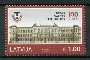 Latvia Architecture Stamps 2020 MNH Riga State Technical School Education 1v Set