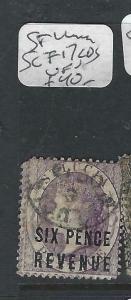 ST LUCIA  (P2705BB)  QV  POSTAL FISCAL  SG F17  CDS  VFU