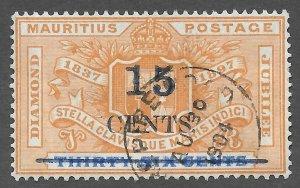 Mauritius (1899) - Scott # 114,    Used