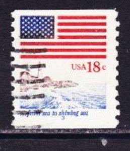 US #1891 Flag & Anthem Used PNC Single plate #3