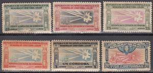 Nicaragua, Sc # C266-C271, MNG/MNH, 1945, Caraval of Columbus