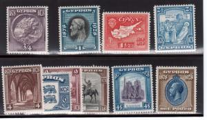 Cyprus #114 - #123 VF Mint Set