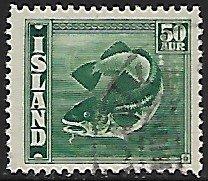 Iceland # 227 - Codfish - used....{GBl)