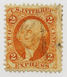B45 U.S. Revenue Scott R10c 2-cent Express orange, manuscript cancel, SCV = $14