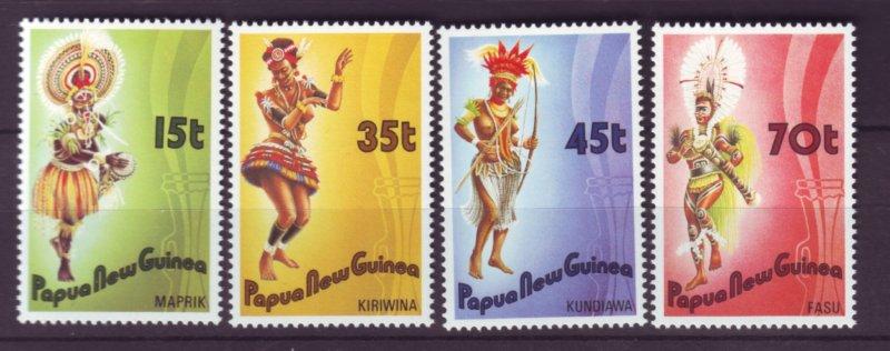 J21866 Jlstamp 1986 png set mnh #655-8 folk dancing