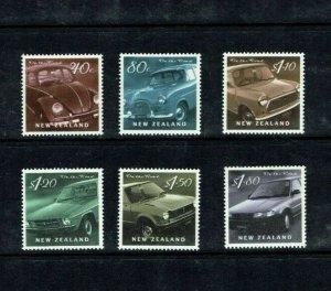 New Zealand: 2000  On The Road, Motor Cars, MNH set