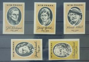 Match Box Labels ! industry science scientist famous people czechoslovakia GN28