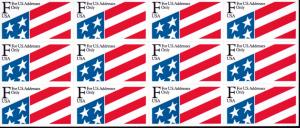 United States 1991 ATM F Rate (29cents) Flag Pane of 12 Stamps  VF/NH
